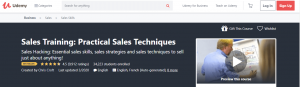 Sales Traning Course by Udemy