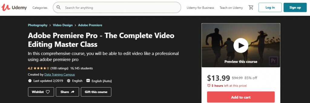 Adobe Premiere Pro - The Complete Video Editing Master Class