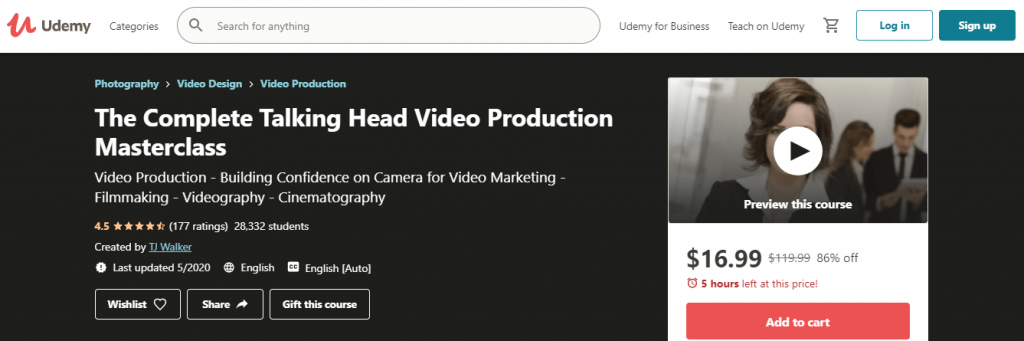 The Complete Talking Head Video Production Masterclass
