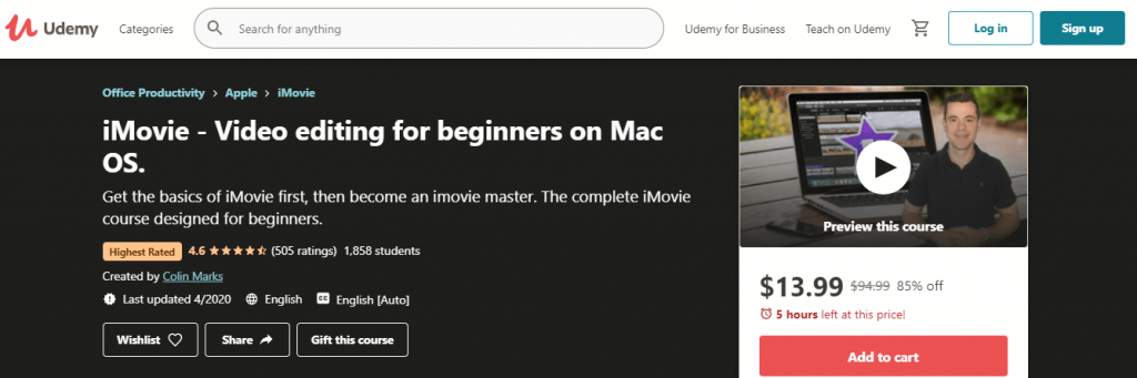 iMovie - Video editing for beginners on Mac OS