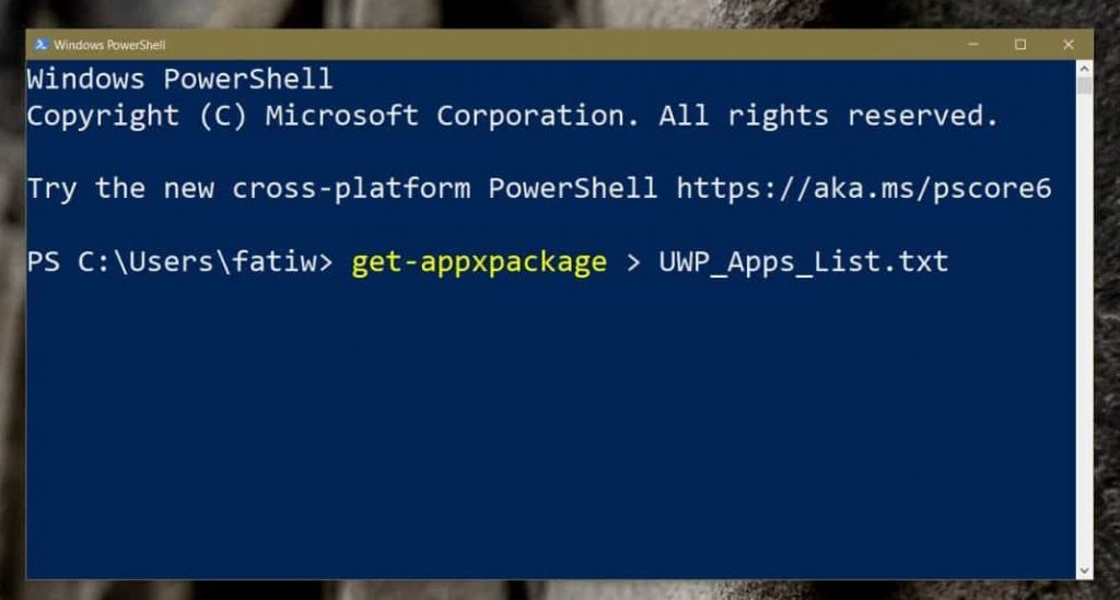 Get-AppXPackage Command