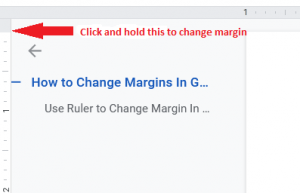 Google Docs Change Margin