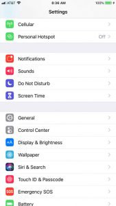 iPhone settings menu How To Turn Off Find My iPhone