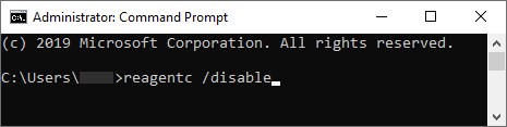 CMD Disable Command There Was a Problem Resetting Your PC
