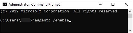 CMD Enable Command There Was a Problem Resetting Your PC