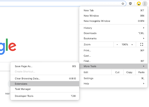 Clear Browsing Data on Google Chrome