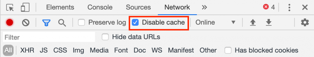 Disable The Cache System