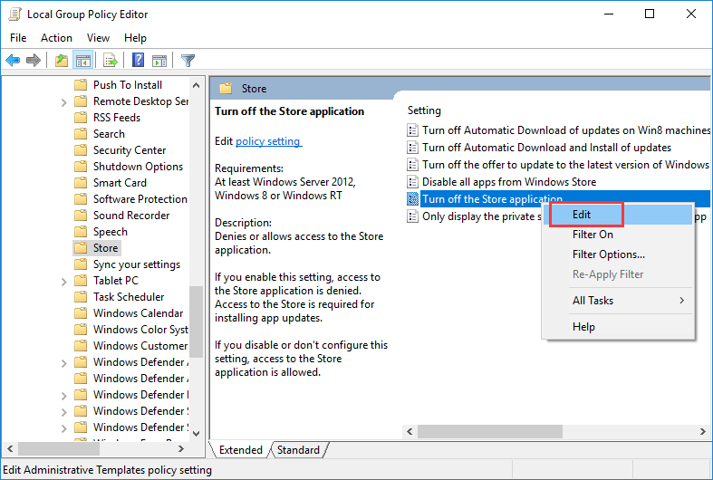 Group Policy Editor WSAPPX High Disk Issue