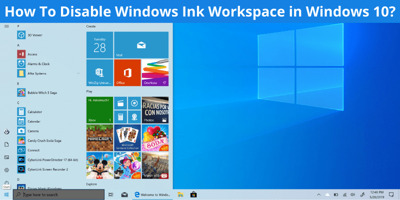 How To Disable Windows Ink Workspace in Windows 10