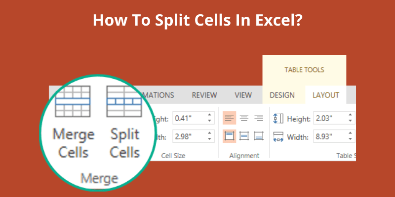 How To Split Cells In Excel_