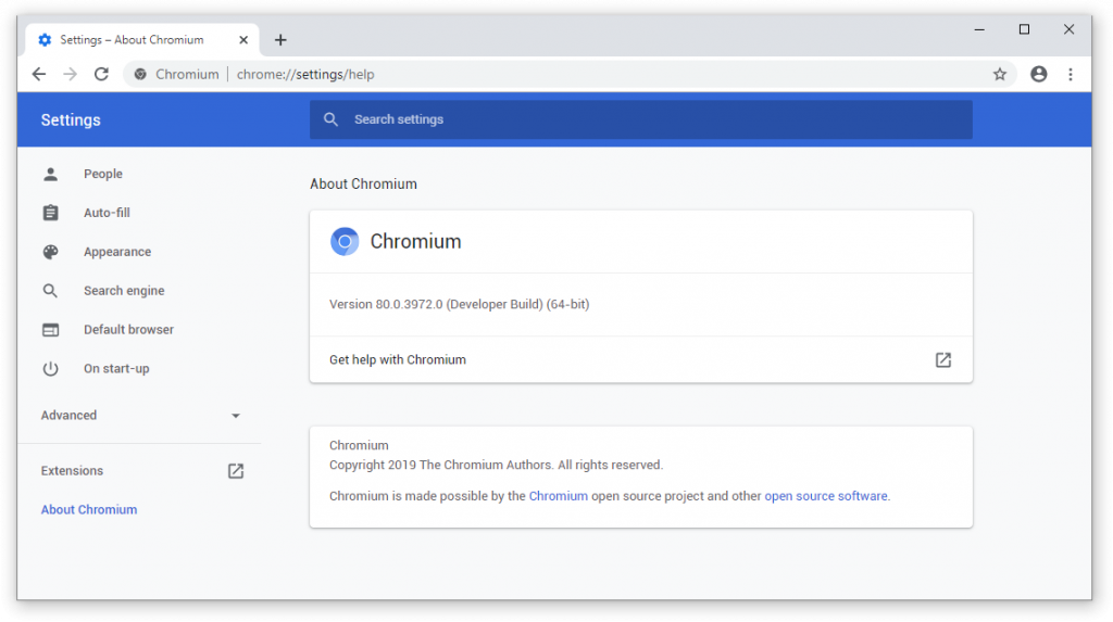 Chromium On Windows 10