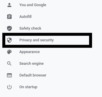 Privacy and Security Setting in Google Chrome