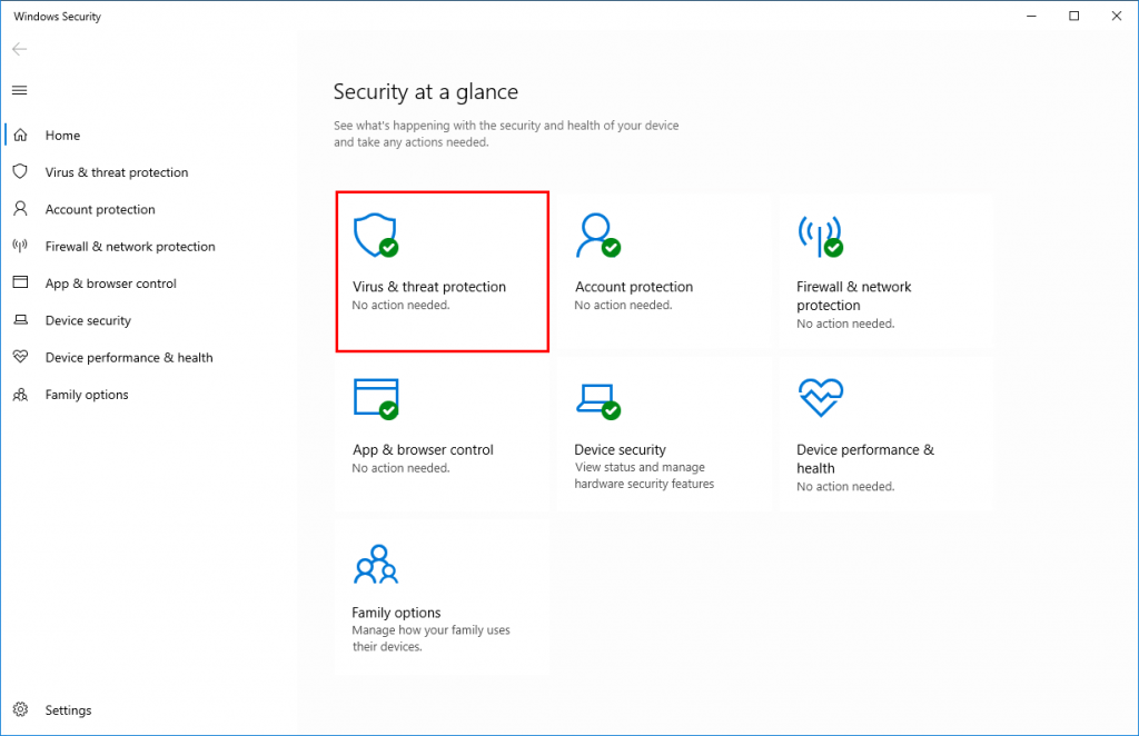 Virus & threat protection How to Turn Off Windows Defender
