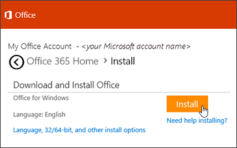Reinstall office 365