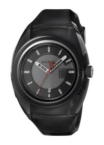 Gucci Quartz Stainless Steel and Rubber Casual Black Men's Watch