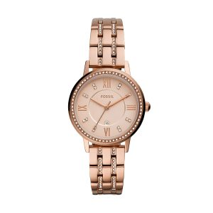 Fossil Gwen Analogue Women's Watch(Rose Gold Dial Womens Standard Colored Strap)-ES4879